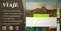 Download and review of Viaje Responsive WordPress Theme, one of the best Themeforest Retail themes