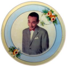 """Pee-Wee Portrait Plate 6.5"""", $34, now featured on Fab."""