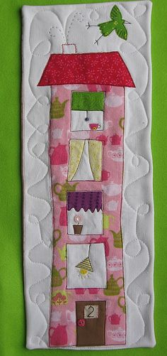 House number 2 mini quilt by syko Kajsa, via Flickr