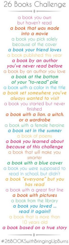 26 Book Challenge...ideas                                                       …