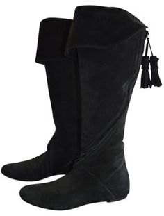 f52a05f666e6c3 Twelfth St. by Cynthia Vincent Boot Suede Dressy Black Boots Bootie Boots