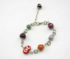 Multicolour ceramic beads bracelet