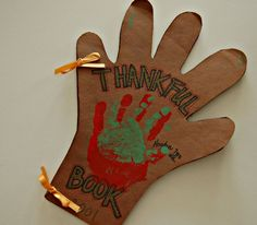 Thankful Hands Book for kids Thanksgiving Craft