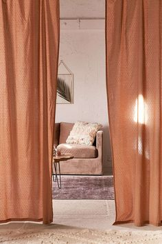 812d85f8736 Mid-Century Modern Wood Curtain Rod