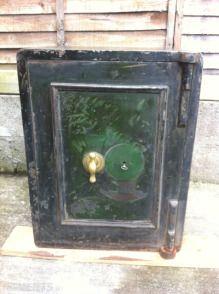 Original Antique Diebold Double Door Floor Safe Safes