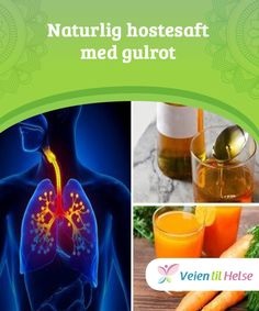 Naturlig hostesaft med gulrot  Selv om det anbefales at du tar en #skje med denne naturlige #hostesaften #etter hovedmåltidene dine, kan du også ta den #før et hosteanfall.
