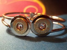 Front closing bangle bullet bracelet with Swarovski crystals. $35.00. Jewelry Design by Sherry on Facebook.