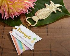 Gold Pineapple Bottle Opener | My Wedding Favors