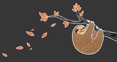 sloth illustration | Tumblr Illustration Tumblr, Baby Sloth, Warm Fuzzies, Spirit Animal, Sloths, Iphone Wallpaper, Cute Animals, Snoopy, 2016 Tattoo