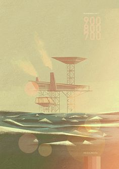illustration by Matthew Lyons. it has the feel of a faded surf poster.