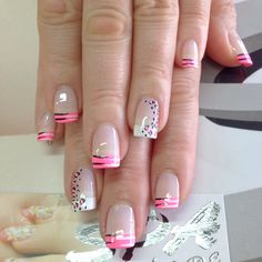 26 Ideas For Nails Art Animal Print Beautiful Pretty Nail Designs, Nail Art Designs, French Nails, Toe Nails, Pink Nails, Nail Nail, Animal Nail Art, Gel Nagel Design, Fingernail Designs