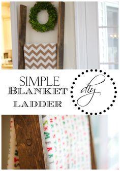 Easy DIY Blanket Ladder   Love of Home