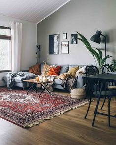 Masculine Interior and Decorating Inspiration with Colors is part of Hygge home - Looking for masculine interior inspiration that features more colors than just black and gray and red We'll show you what to look for, plus tons of photos Eclectic Living Room, Living Room Interior, Home Living Room, Apartment Living, Living Room Designs, Cosy Living Room Warm, Manly Living Room, Living Room Oriental Rug, Living Room Warm Colors