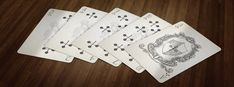 Medieval Playing Cards. Unlimited SILVER Edition. Clubs - Number Cards