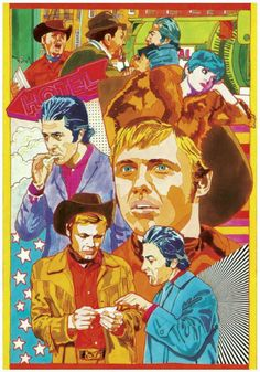 """George Guzzi, promo art for the movie, """"Midnight Cowboy,"""" 1 048 пикс John Schlesinger, Hooked On A Feeling, Jon Voight, Midnight Cowboy, Funny Films, Unique Poster, Cinema Posters, Alternative Movie Posters, Second World"""