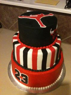 jordan basketball party decor | Michael Jordan Birthday cake