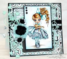 Saturated Canary image colored with copics by Suzanne J Dean of ScrapBitz #cards  #crafts