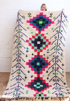 Such a cool azilal rug, it would be awesome in a kids room, Baba Souk