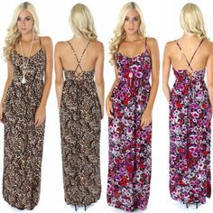 Leopard VS Floral...VOTE NOW which way will you rock the new laced maxi?! Shop both prints for only $34.99 online at www.sophieandtrey.com or in store at #sophieandtrey! #maxidress #newarrivals #leopardprint #floral