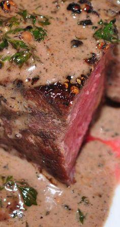 Recipe for Filet Mignon au Poivre - My favorite fancy steak dish is steak au poivre (with pepper). This is a simple version of the steak au poivre you've had in restaurants. dinner lamb Recipe for Filet Mignon au Poivre Sauce Recipes, Meat Recipes, Slow Cooker Recipes, Cooking Recipes, Sauce Au Poivre, Steak Au Poivre, Filet Mignon Steak, Filet Steak, Steak Dishes