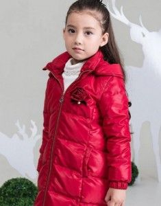 Long dress coats  BabaBaobao Girls Winter Clothing Down Outerwear Coat Red 6 Discount !!!