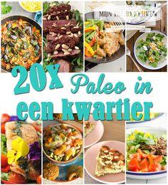Iedereen kan altijd wel een kwartiertje missen om te koken, dat je dan gezonde en heerlijke recepten kan maken bewijzen deze 20 snelle paleo recepten.
