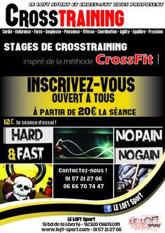 Cours de CrossFit ! 1H30. Collectif. 12€ la première séance. Salle Le Loft Sport. Châtillon. IDF. France. #crossfit #cross4fit #pneu #corde #haltérophilie #vélo #rameur #gym #yoga @leloftsport @cross4fit