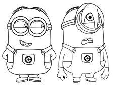 Dibujo para colorear de los Minions (nº 13)