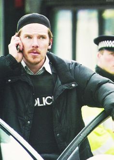 "Benedict Cumberbatch as a hostage negotiator in ""Four Lions""  <<< I love the ginger scruff :)"