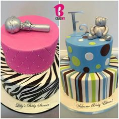 Baby shower cake for girl and one for a boy Welcome Baby, Zulu, Love Gifts, Baby Shower Cakes, Baby Ideas, Amazing Cakes, Baby Love, Party Planning, Babyshower