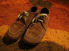 70s Men Brown Suede Shoes with Contrast Stitching by JohnnyVelour, $52.00