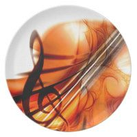 Music  Stringed Instruments Violin Destiny Dance Party Plates