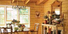 Lucinda Rooney Vermont Log Cabin - Log Cabin Decorating Ideas