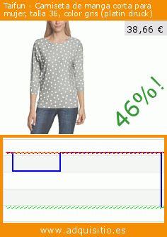 Taifun - Camiseta de manga corta para mujer, talla 36, color gris (platin druck) (Ropa). Baja 46%! Precio actual 38,66 €, el precio anterior fue de 71,75 €. https://www.adquisitio.es/taifun/camiseta-manga-corta-8