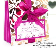 Stampin' Up! Demonstrator Pootles - Concertina Cards & Envelopes Pouch #handmade #smallgift #gift #staminup #pootles #video #videotutorial