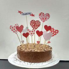 Torta de chocolate, corazones , heart, nutella