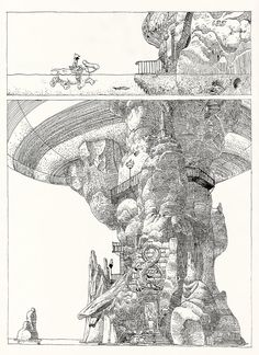 "A page from Moebius' ""The Airtight Garage""."