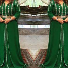 #royalgreen#emerauld#chicstyle#soft#classy#originalwork#shinystones#silvershadow#goldenshadow#handmadecreation#morrocandress#caftan#Fes#Morrocco