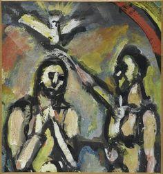 Georges Rouault, Baptême du Christ, après 1939 Centre Pompidou Virtuel - Baptême du Christ