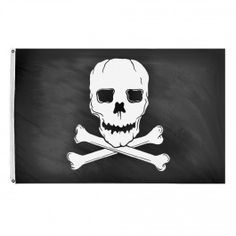 Nyl-Glo Jolly Roger Flag-12 in. X 18 in. http://www.pacificcoastflag.com/product-type/sports-recreation-leisure-boating-fishing-auto-racing/12-in-x-18-in-nyl-glo-jolly-roger-flag.html