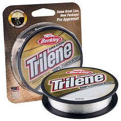 """Choice of the pros for nearly 10 years! Trilene 100% Fluorocarbon is the""""XT"""" of professional-grade fluorocarbons. This proven formula providesincredible shock strength, abrasion resistance and knot strength. Fast-sinking with greater line density for high sensitivity and less """"bow"""" inthe water - all advantages for feeling the bite, setting the hook, andlanding more fish!"""