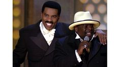 Steve Harvey & Cedric The Entertainer - 2001  They were the best hosts!!! Can we get them back?