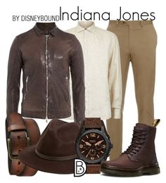"""Indiana Jones"" by leslieakay ❤ liked on Polyvore featuring Brioni, Corneliani, Giorgio Brato, Uniqlo, Fallenbrokenstreet, FOSSIL, Dr. Martens, mens, men and men's wear"