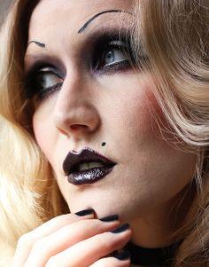 Bride of Chuky Halloween Makeup  bambidoes.de #halloween #makeup #brideofchuky #tiffany