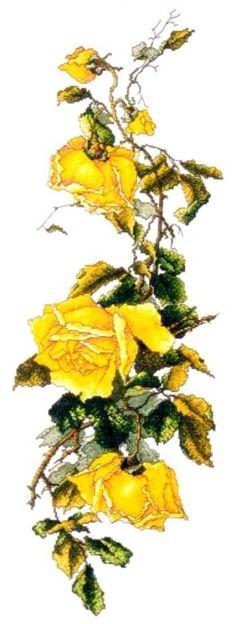 вышивка ветка желтой розы: 17 тыс изображений найдено в Яндекс.Картинках