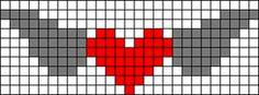 Alpha friendship bracelet pattern added by heart angel wings love fly. Bead Loom Patterns, Beading Patterns, Cross Stitch Patterns, Friendship Bracelet Patterns, Friendship Bracelets, Mochila Crochet, Beaded Angels, Bead Loom Bracelets, Cross Stitch Heart