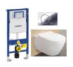 #100005   V&B Subway 2.0 Direct Flush Toalettpakke Inkl. sete/lokk, sisterne og trykkplate.