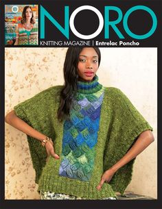 Entrelac Poncho in Noro Silk Garden Solo and Silk Garden Sock Yarn - 18 - Downloadable PDF. Discover more patterns by Noro at LoveKnitting. We stock patterns, yarn, needles and books from all of your favourite brands.