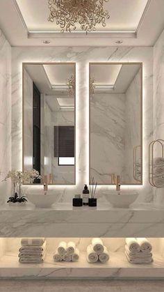 Dream House Interior, Luxury Homes Dream Houses, Home Room Design, Dream Home Design, Dream Bathrooms, Beautiful Bathrooms, Bathroom Design Luxury, Luxury Hotel Bathroom, Modern Luxury Bathroom