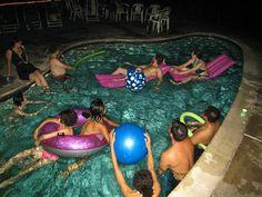 Nightswimming pool party!